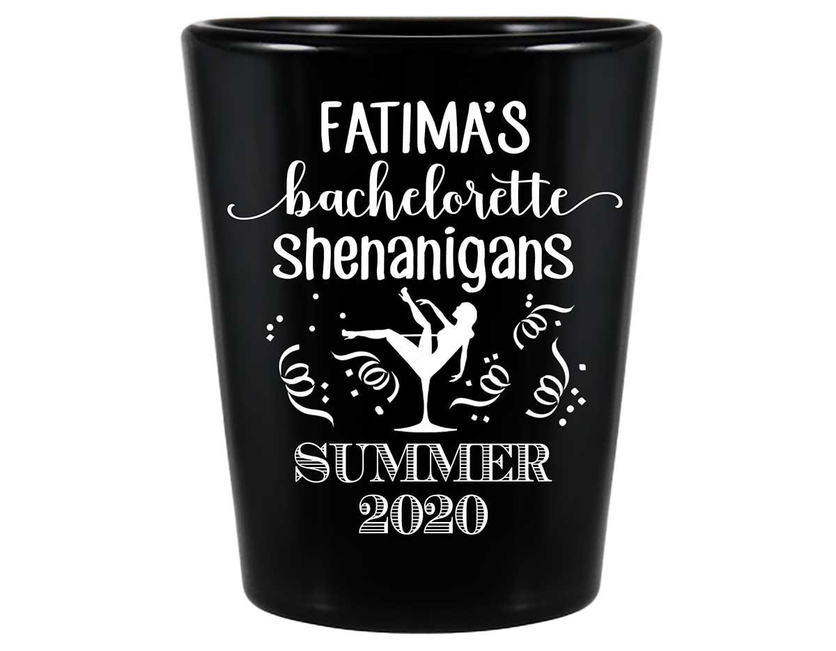 Bachelorette Shenanigans 1A Standard 1.5oz Black Shot Glasses Funny Bachelorette Party Gifts for Guests