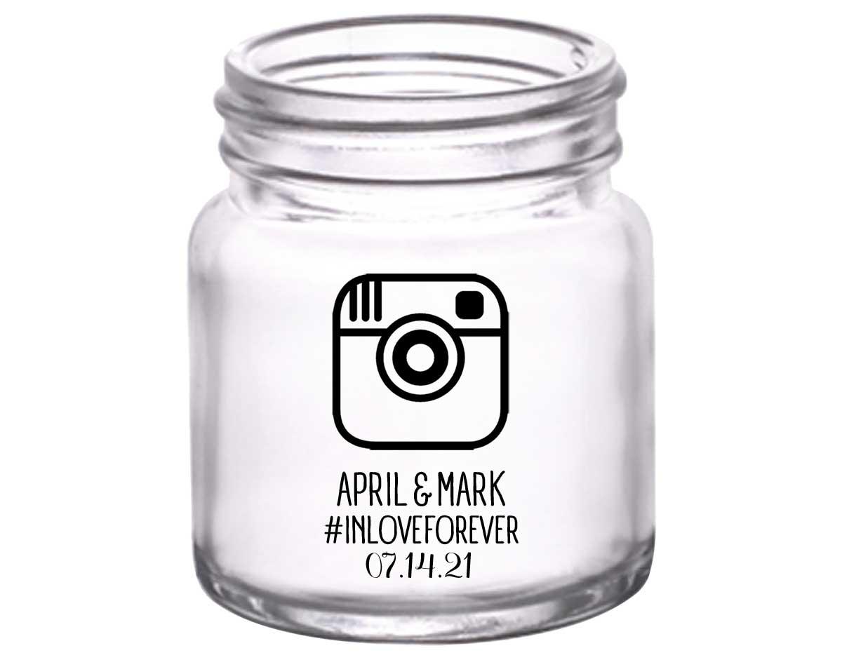 Instagram Hashtag 1A 2oz Mini Mason Shot Glasses Cute Wedding Gifts for Guests