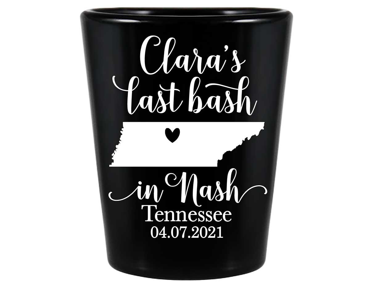 Last Bash In Nash 2A Standard 1.5oz Black Shot Glasses Nashville Bachelorette Party Gifts for Guests