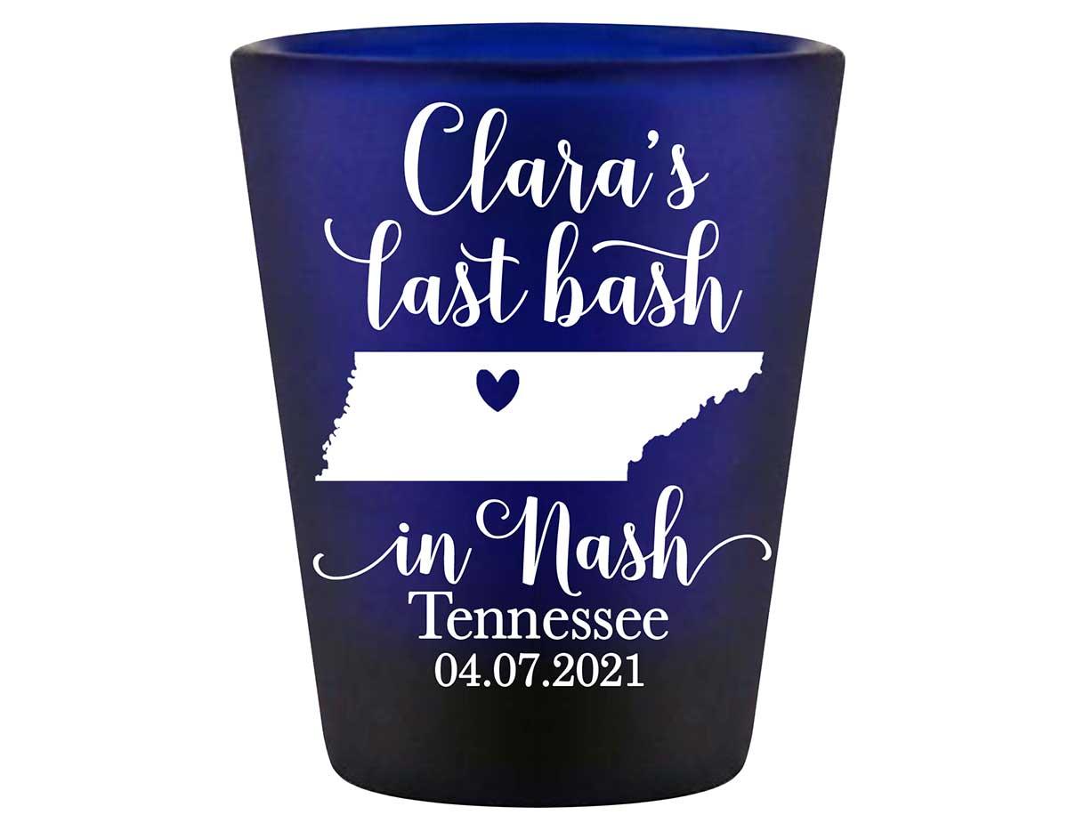 Last Bash In Nash 2A Standard 1.5oz Blue Shot Glasses Nashville Bachelorette Party Gifts for Guests