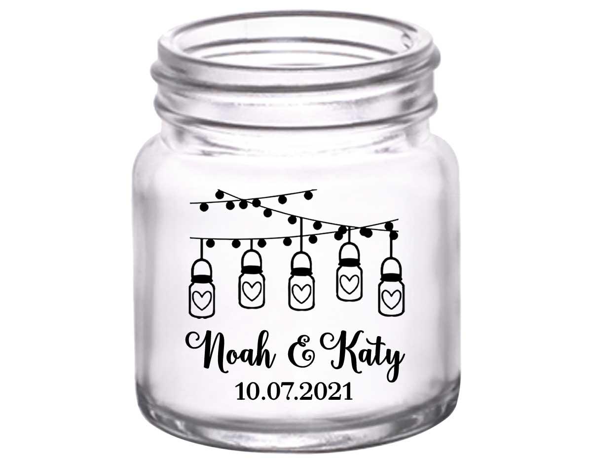 Mason Jar Lights 1A String Lights 2oz Mini Mason Shot Glasses Rustic Wedding Gifts for Guests