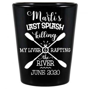 The Last Splash 2B Standard 1.5oz Black Shot Glasses Beach Bachelorette Party Gifts for Guests