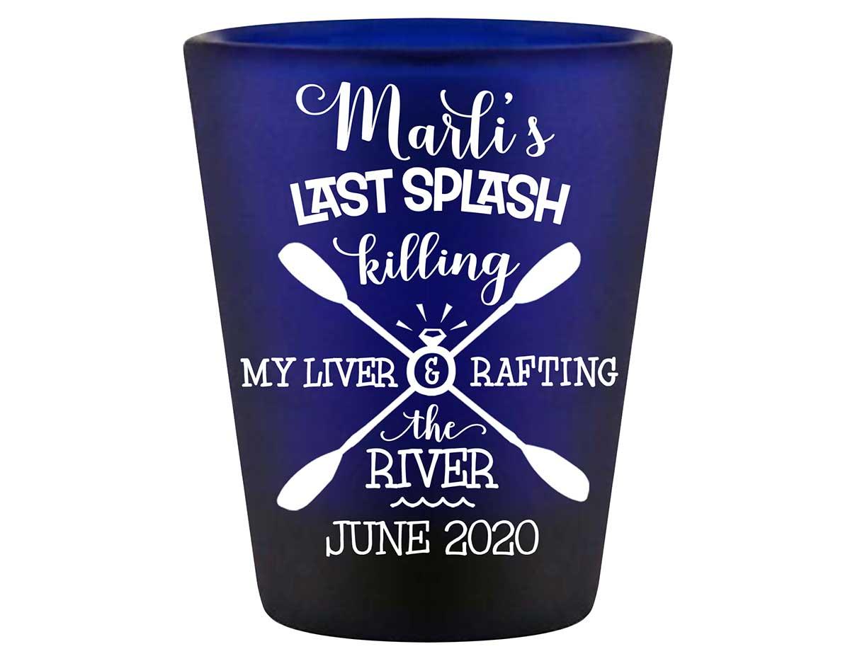 The Last Splash 2B Standard 1.5oz Blue Shot Glasses Beach Bachelorette Party Gifts for Guests