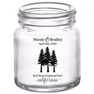 Woods Wedding 1B 2oz Mini Mason Shot Glasses Outdoors Wedding Gifts for Guests